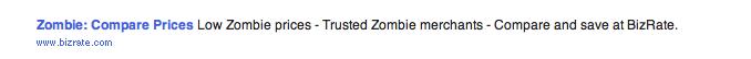 Bizrate Zombie Ad