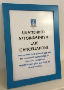 Unattended appointments